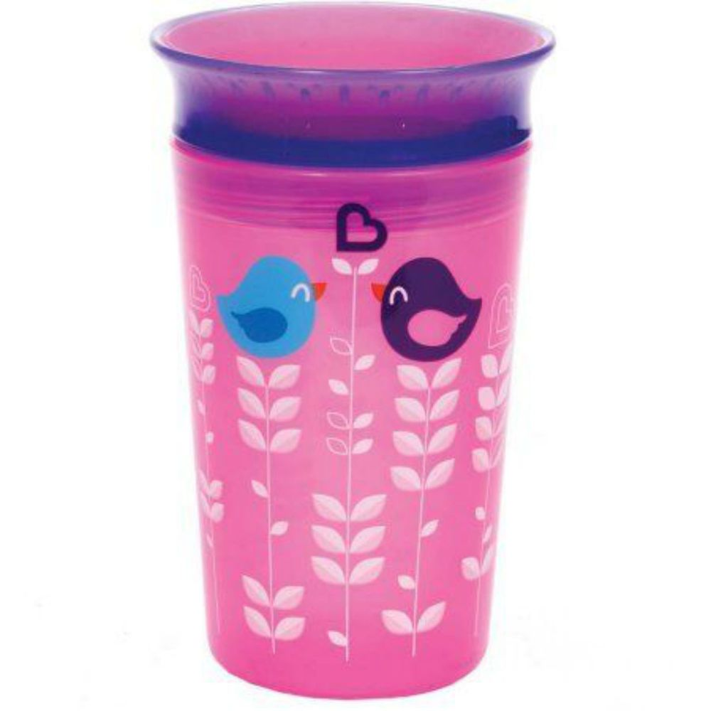 Munchkin Miracle 360 Sippy Cups Baby Trainer Toddlers Kids Spill Proof Pink Blue