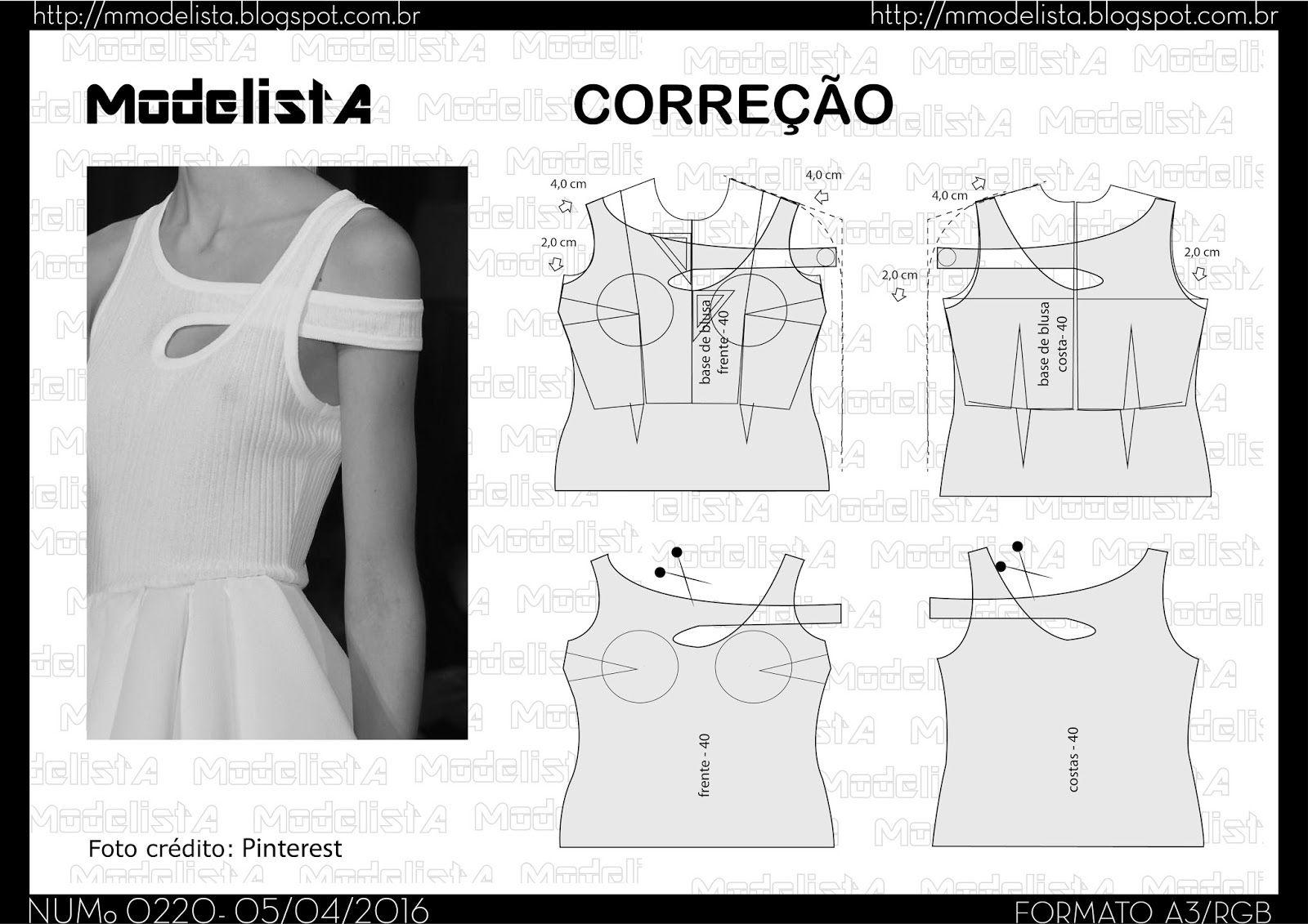 A3 NUMo 0220 TOP | Coser blusas, Blusas y Patrones