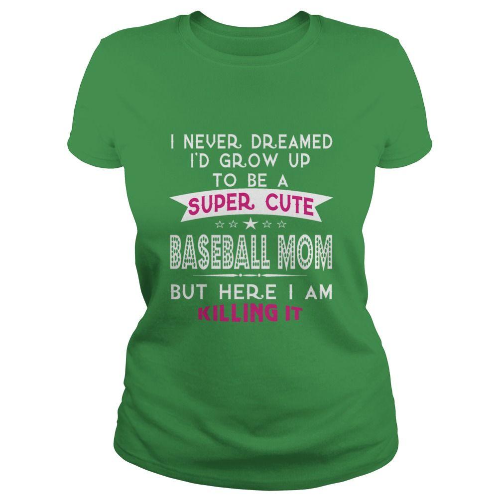 A super cute baseball mom t shirt womens tshirt by american