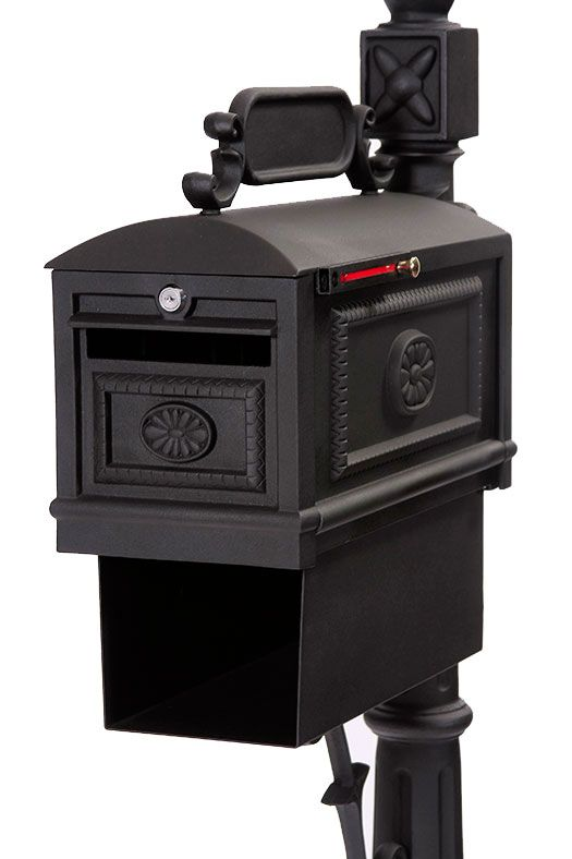 Locking Contemporary Decorative Cast Aluminum Mailbox With Paper Box Black Better Box Mailboxes Contemporary