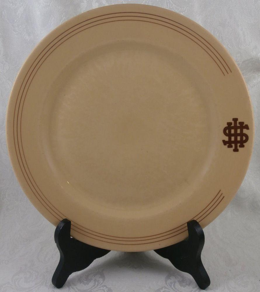 HERSHEY INDUSTRIAL SCHOOL Milton Hershey 9  Plate McNicol China 1940s & HERSHEY INDUSTRIAL SCHOOL Milton Hershey 9