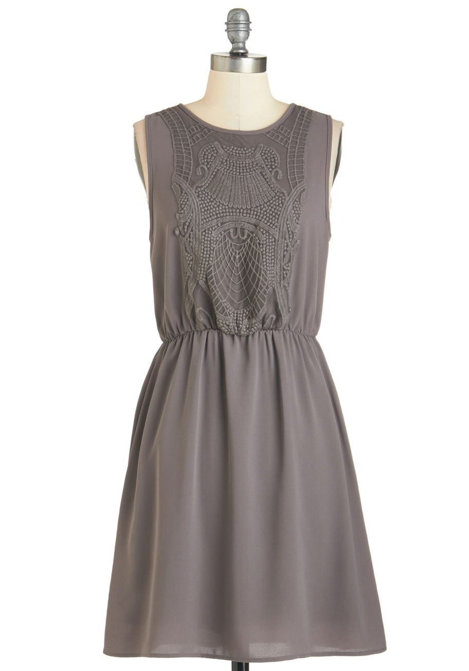 Casual wedding dresses with color  Estate to Remember Dress in Grey The grounds of the majestic