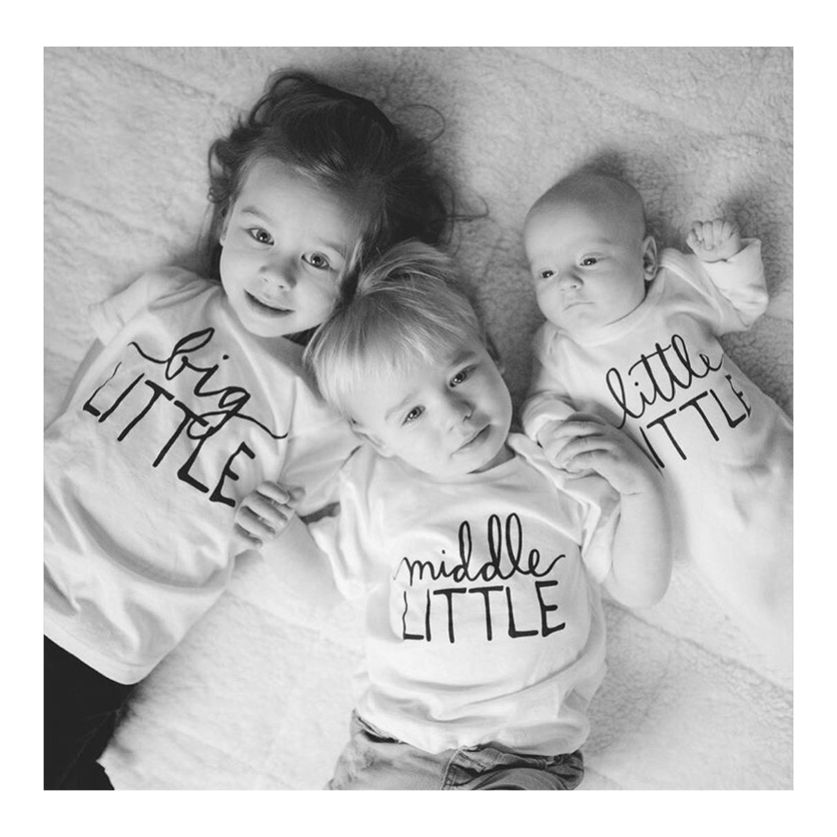 Little Middle Big Sibling Tees Baby Announcement Big Brother