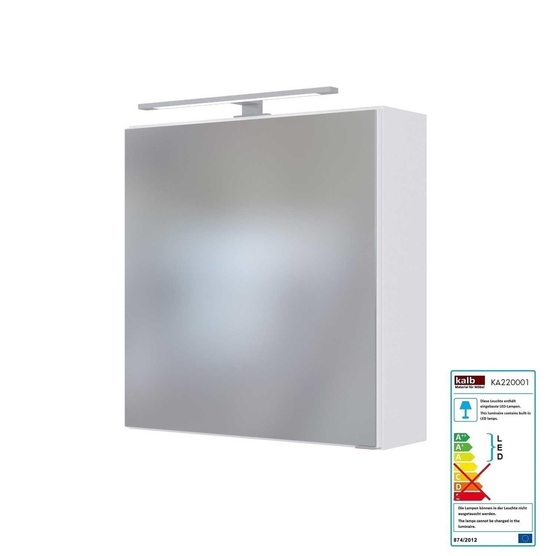 Badmobel Led Spiegelschrank 60 Cm Taree 03 Spiegelschrank Led Aufbauleuchte Schrank