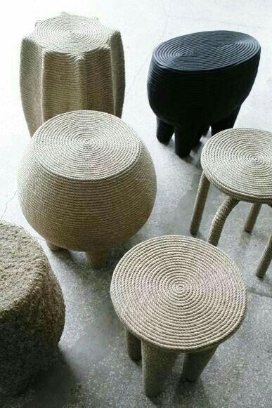 Bancos e banquinhos decoraci n butacas y sillones for Sillones de madera reciclada
