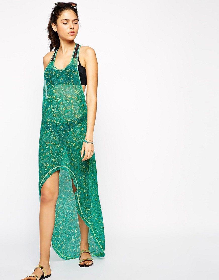 8318d3f352 Maaji Darling Asymmetric Hem Beach Dress in Leaf print | Maaji Dress ...