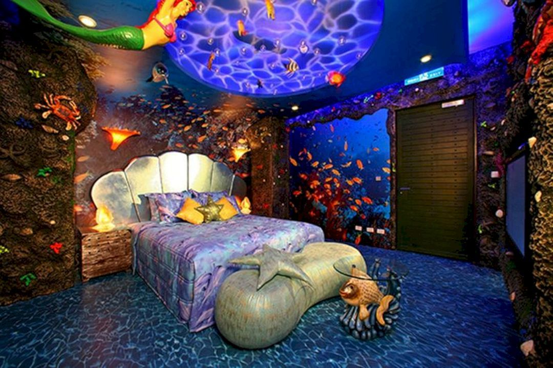 35 Best And Marvelous Mermaid Room Decorations Ideas For Your Home Need To Apply Freshouz Com Mermaid Themed Bedroom Little Mermaid Bedroom Bedroom Themes