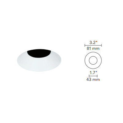 3 Inch Round Less Bevel Trim Hamilton Lighting