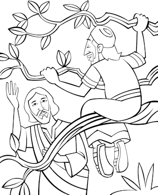 Sunday School Coloring Page Zacchaeus Come Down Sunday School Coloring Pages Coloring Pages Jesus Coloring Pages