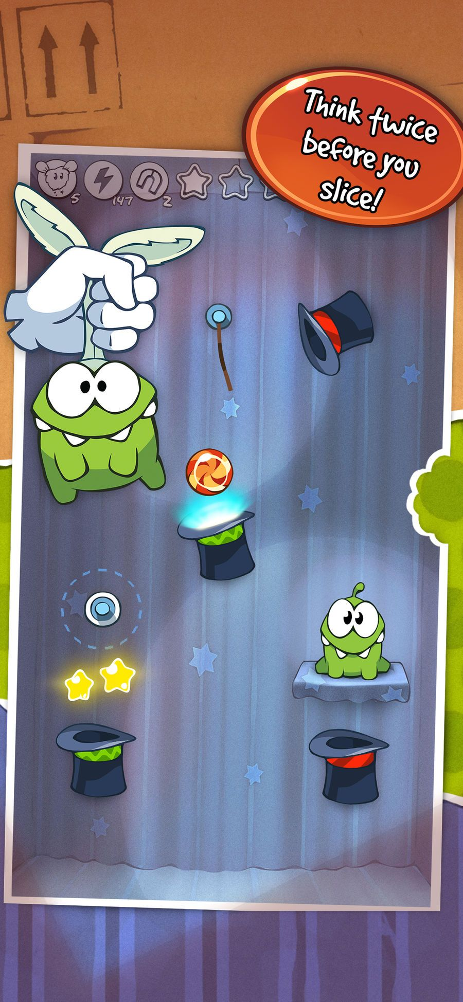 Om Nom returns for more cord-cutting fun