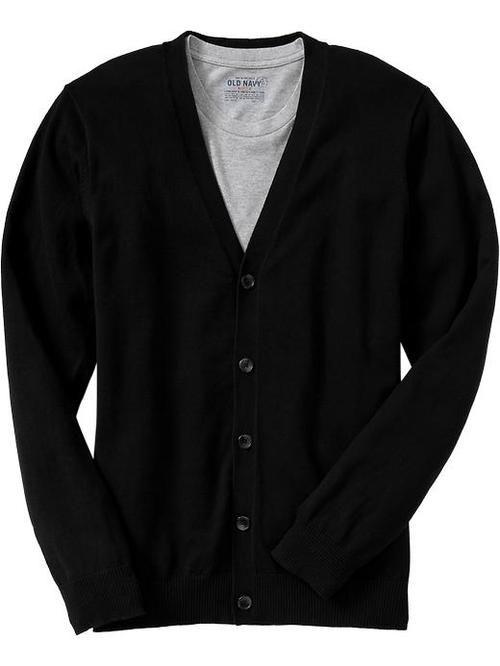 Basic black cardigan from Old Navy. $22.50 | Black Mens Cardigans ...