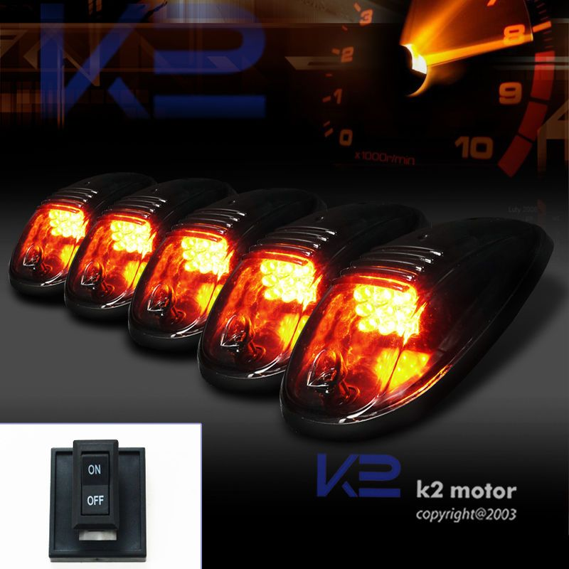 Details About Smoked 5pcs Led Cab Roof Running Marker