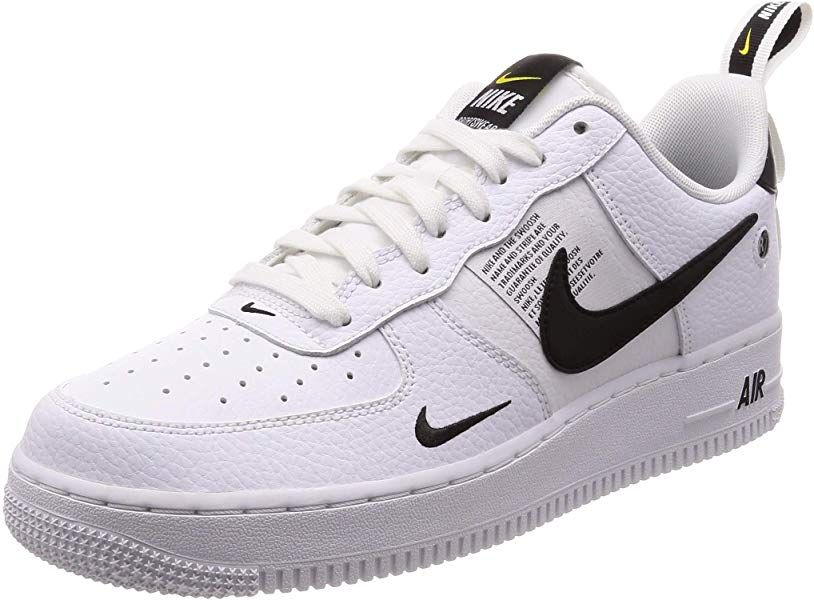 b68af01ca5fad Amazon.com | NIKE Men's Air Force 1 07 LV8 Utility, White/White ...