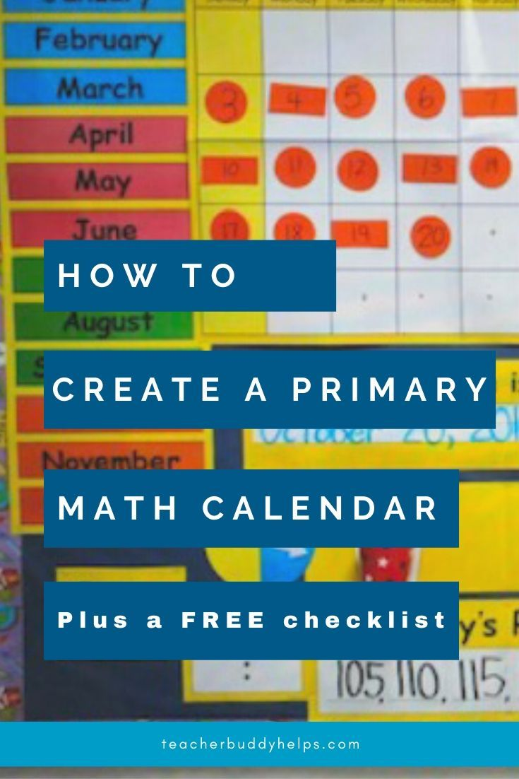 How to set up a Math Calendar Board - Teacher Buddy Helps