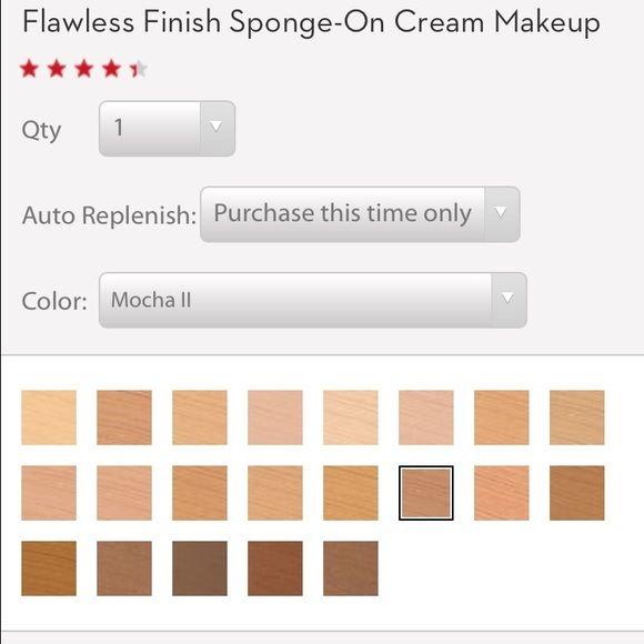 Elizabeth Arden Flawless Finish Cream Foundation With A Sponge