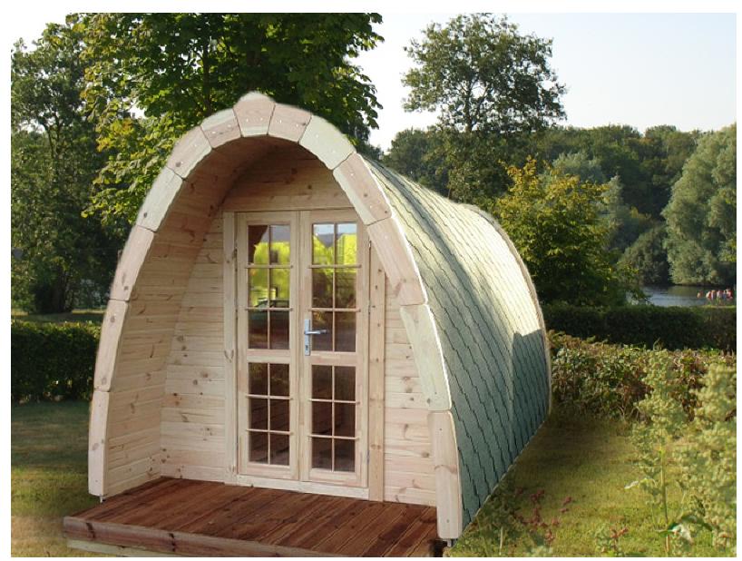 CABIN KIT - camping pod 1 room - 7'11 7'11 - 54 ft ² tiny