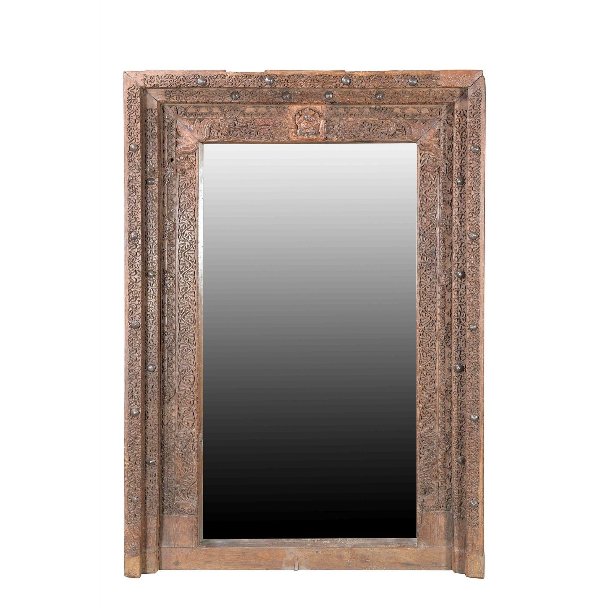 Mirror Made From 19thC Carved Teak Window | Mirror, Mirror ...
