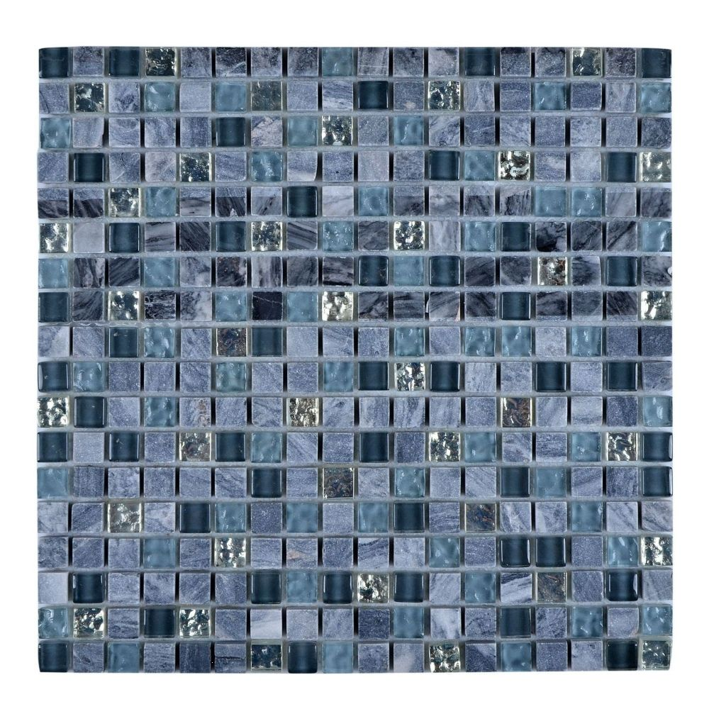Legion Furniture MS-MIXED18 Universal Gray/Blue Decorative Tiles ...