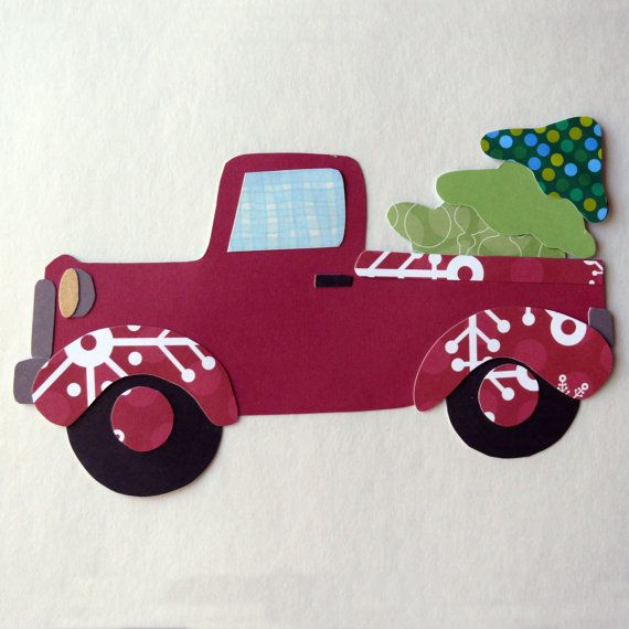 Applique template for Truck and Christmas Tree Appliqué