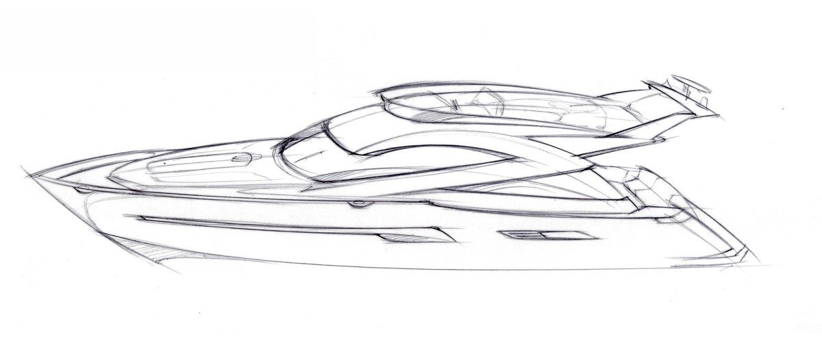Tony Castro Boat Drawing Yacht Design Boat Sketch