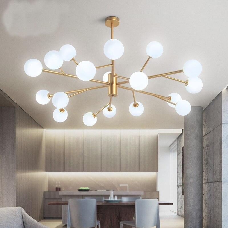 Nordic Chandelier Lighting Living Room Simple Modern Tree Muskbean