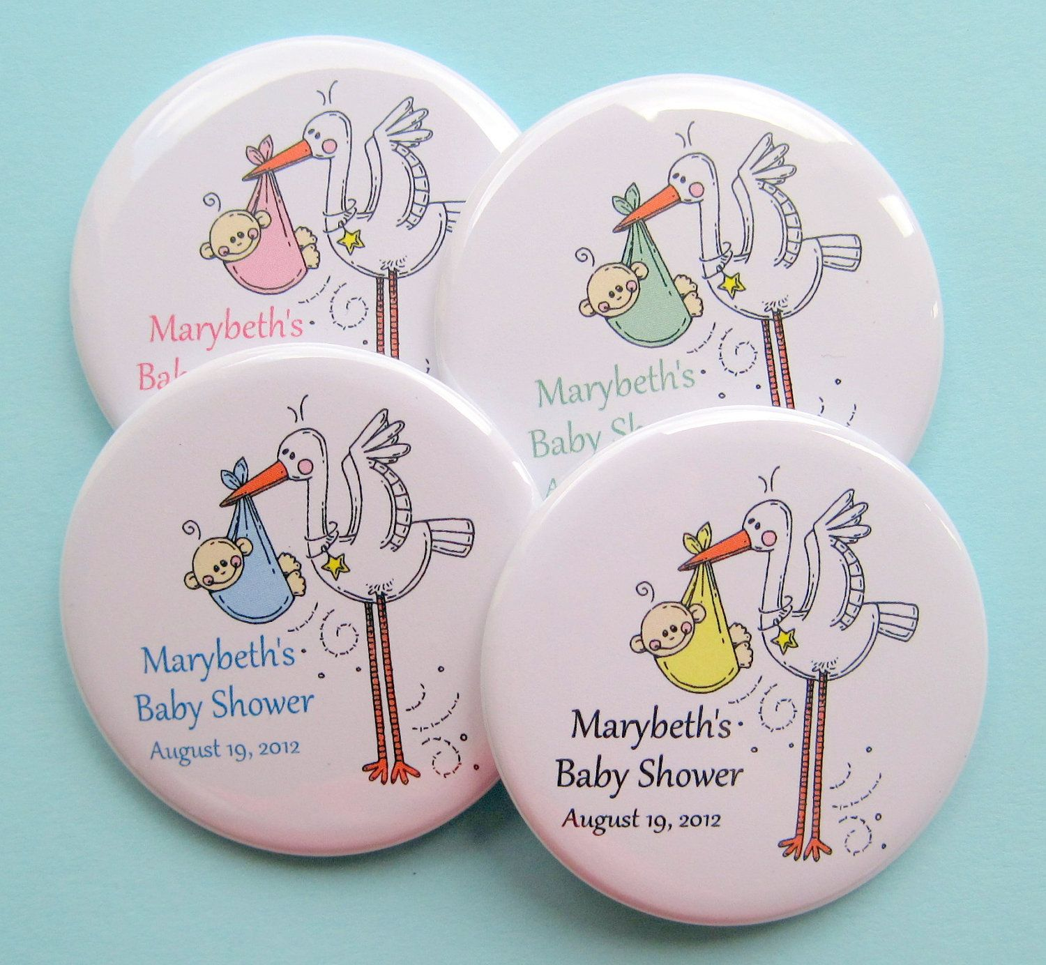 Custom Baby Shower Buttons LC As low as $0 55 each