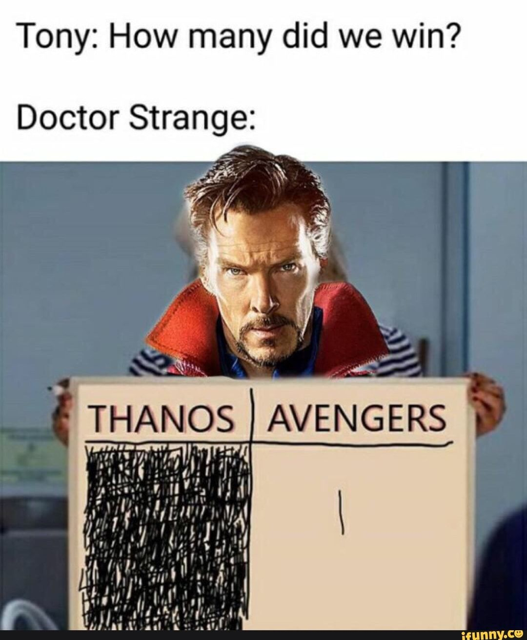 Tony: How many did we win? Doctor Strange: – iFunny :)