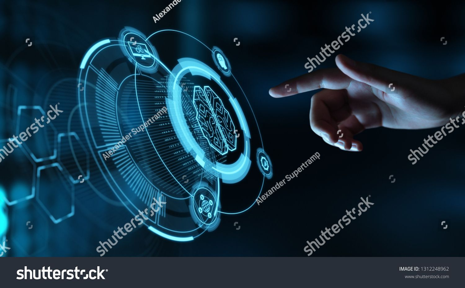 Artificial Intelligence Machine Learning Business Internet Technology Concept Ad Spo In 2020 Business Stock Photos Business Cards Design Diy Business Stock Images