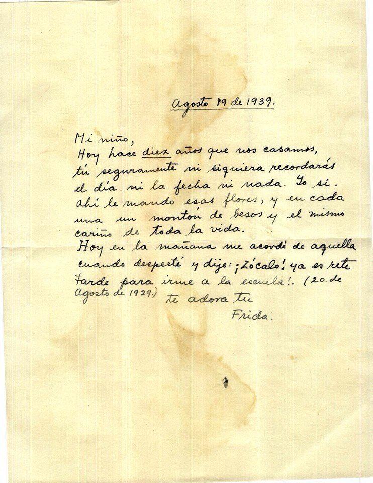 Carta De Frida A Diego Diego Rivera Frases Pensamentos