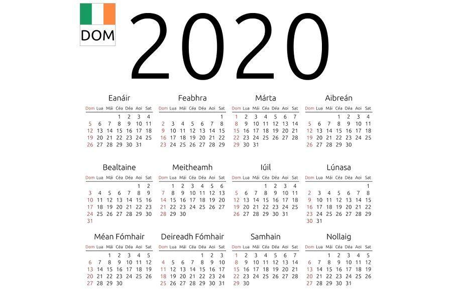 Calendar 2020 Irish Sunday Free Printable Calendar Stationery Templates Calendar Printables