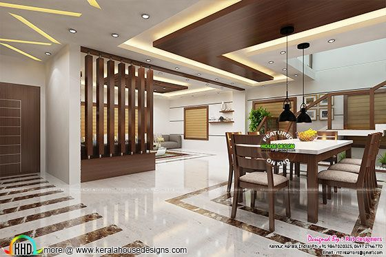 2017 Kitchen And Dining Trends In Kerala In 2020 Kitchen Ceiling
