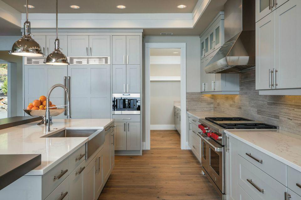 Latitude Cabinets Color Silverplate Kitchen Cabinet Remodel Blue Gray Kitchen Cabinets Kitchen Remodel Cost