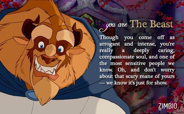 I took Zimbio's 'Beauty and the Beast' quiz and I'm The Beast! Who are you?