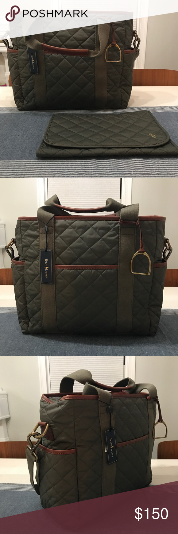 Tags Bag Ralph Brand Polo Lauren With Diaper New 354LqcARj