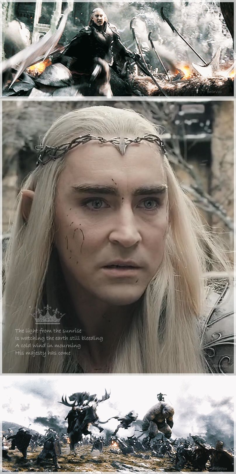 Lee Pace as Thranduil in the Hobbit: The Battle of the