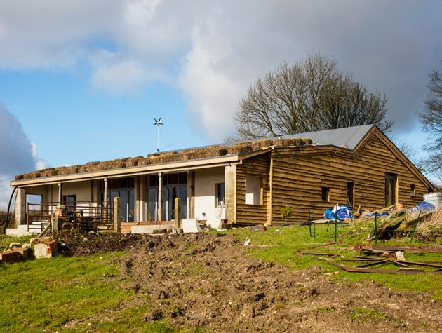 Grand Design Cowshed Conversion In Somerset Sustainable Project Including Eco Slate Roof From Recycled Milk