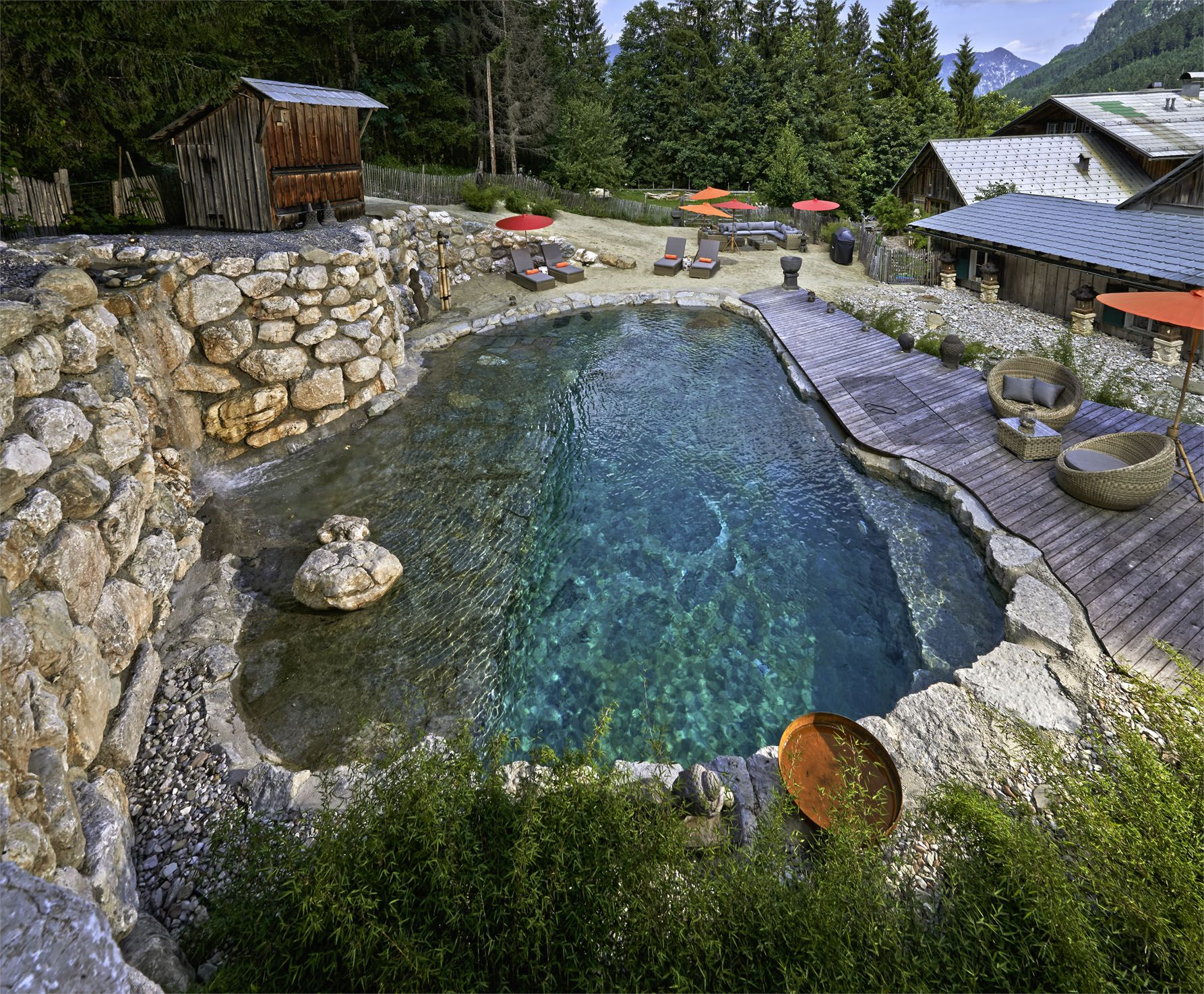 pool selber bauen beton - Google-Suche | Natural swimming pools ...