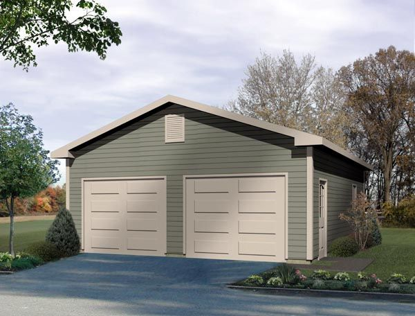 Traditional Style 2 Car Garage Plan Number 49013 Detached Garage Cost Two Car Garage Garage Plans