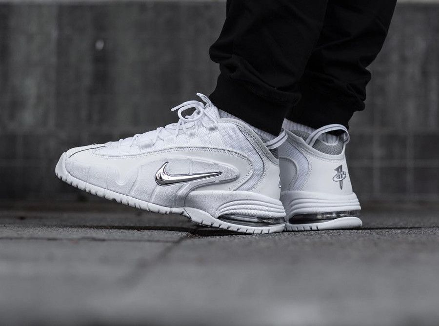 Nike Air Max Penny 1 'White Metallic Silver' #nike #sneakers
