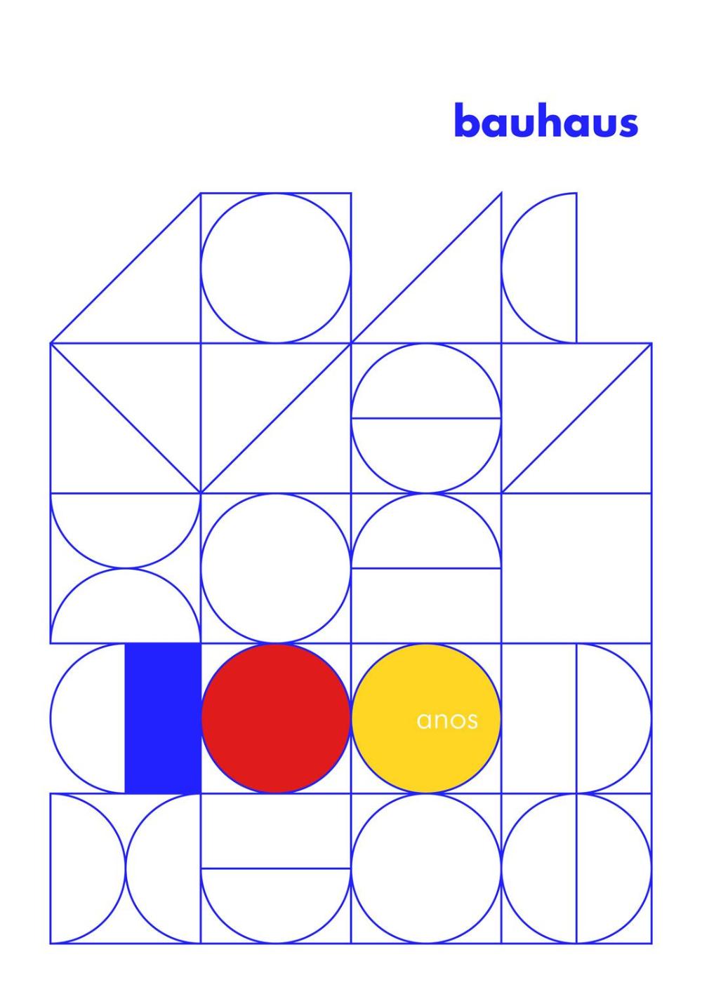 Pôsteres Bauhaus 100 anos Графический дизайн