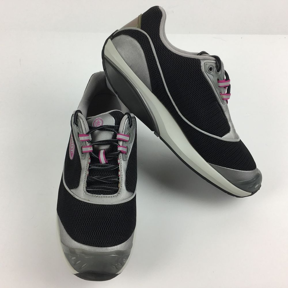 84c9bb9c607a MBT Fora Sneakers Size 9.5 Black Silver Rocker Walking Athletic Shoe Womens