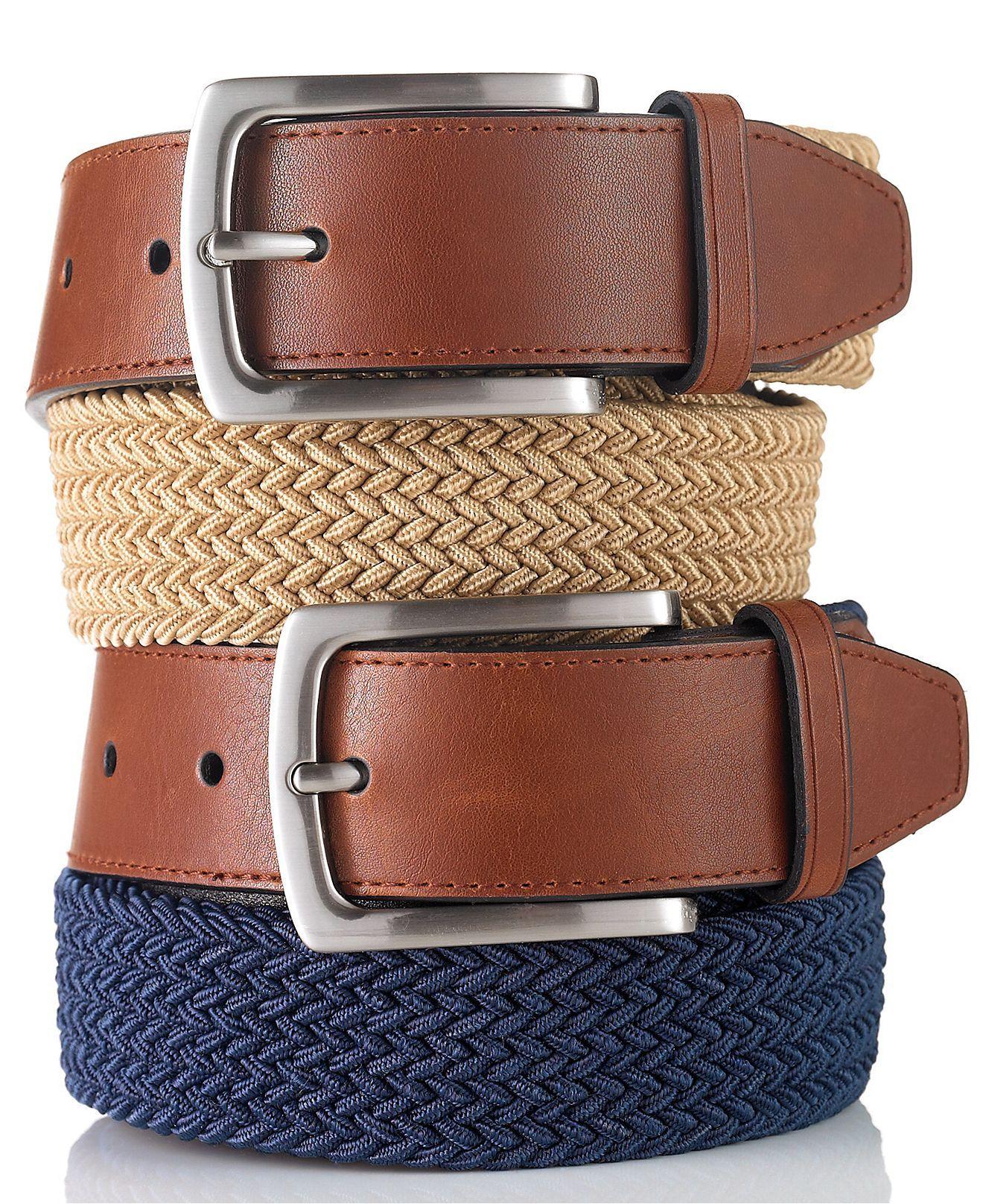 Club Room Braided Casual Belt - Belts & Suspenders - Men - Macy's