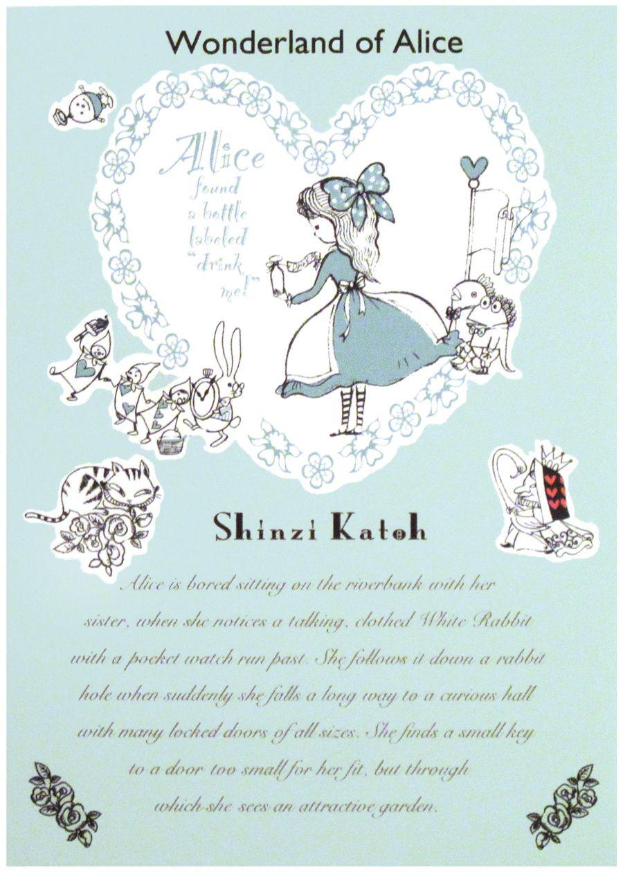 Alice In Wonderland By Shinzi Katoh 壁紙のデザイン アリス イラスト