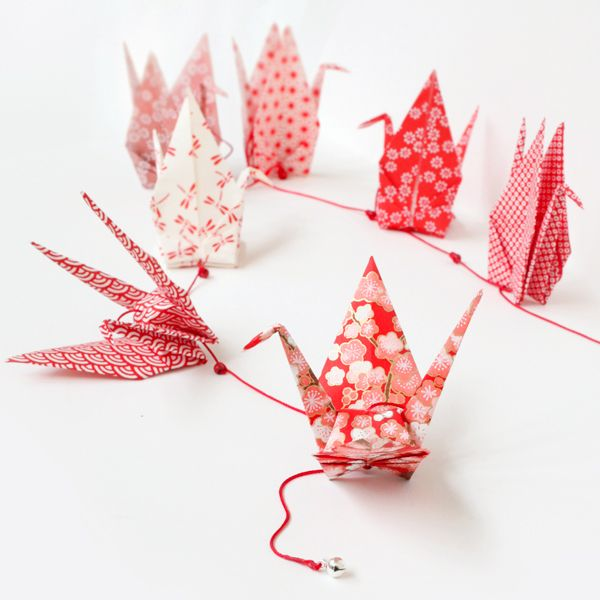 kit guirlande de grues en origami adeline klam origami origami diy origami et origami love. Black Bedroom Furniture Sets. Home Design Ideas