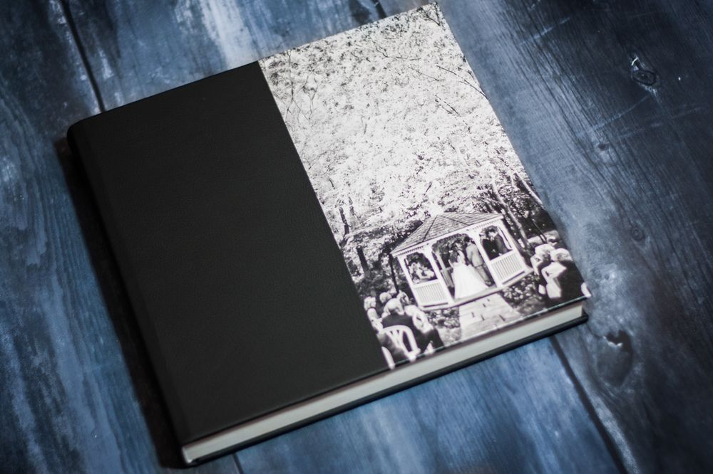 Queensberry Wedding Album With Photo Front Cover