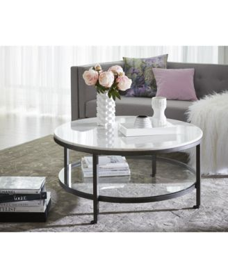 Furniture Stratus Round Table Collection Reviews Furniture Macy S Round Coffee Table Decor Table Decor Living Room Living Room Coffee Table