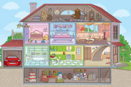 5 Fun Ideas For Finishing Your Attic Or Basement Doityourself Com House Two Storey House Garage