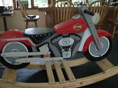 Nice Harley Davidson Kids Kraft Fatboy Motorcycle ROCKER ROCKING HORSE WOOD