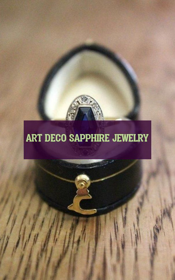 art deco sapphire jewelry