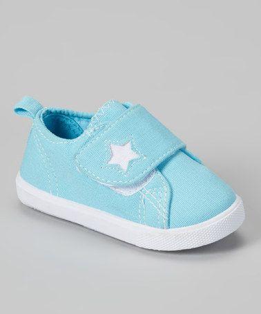 Look at this #zulilyfind! Light Blue & White Star Sneaker by Shocked #zulilyfinds